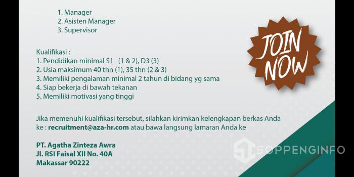 Aza Outsourcing Buka Lowongan Manager & Asisten Manager